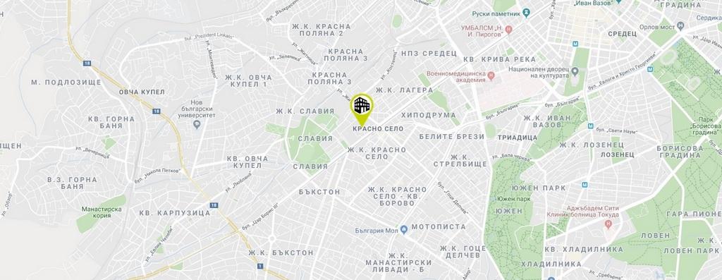 Апартаменти до метростанция Красно село.Затворен комплекс Красно село