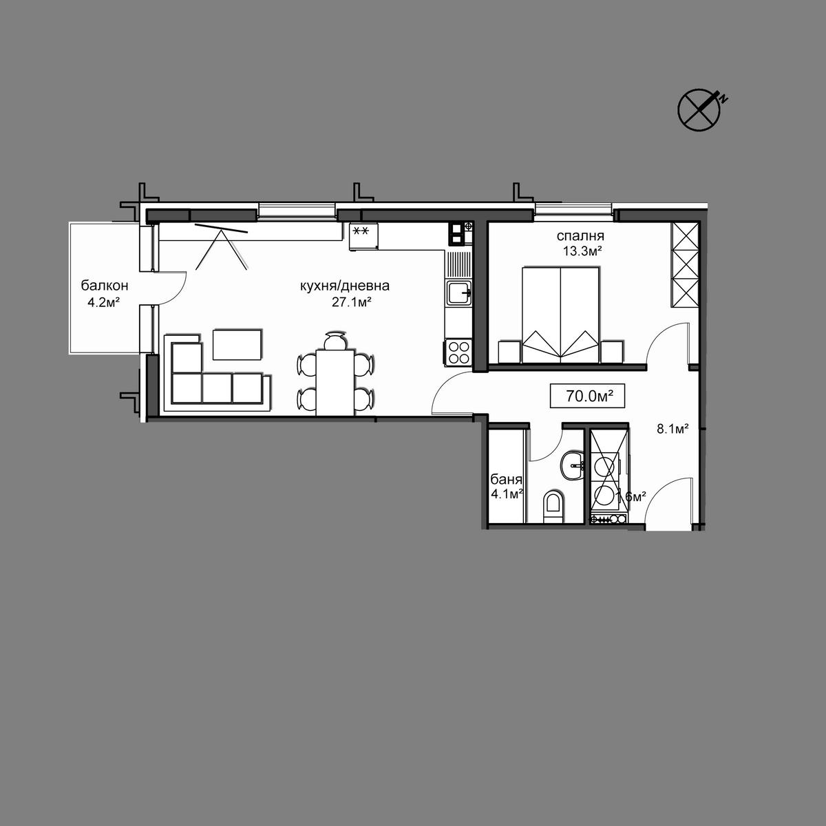 Продава апартамент ново строителство - Апартамент  20