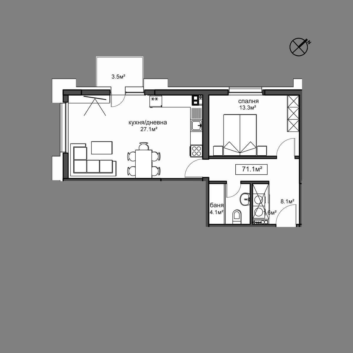 Продава апартамент - Апартамент 1