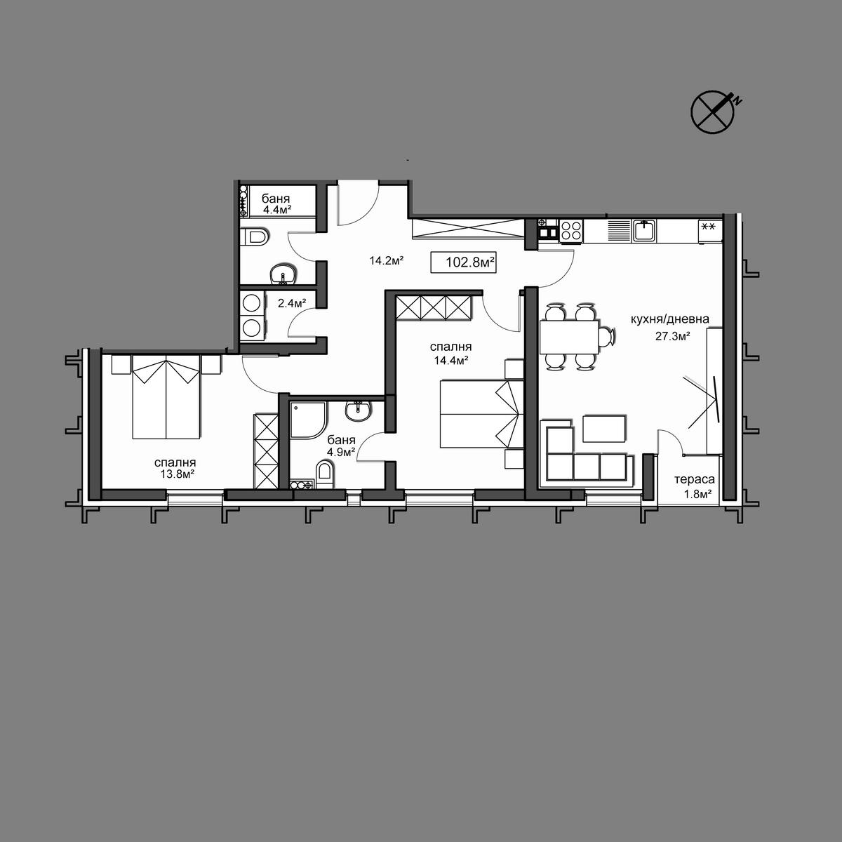 Продава апартамент - Апартамент 43