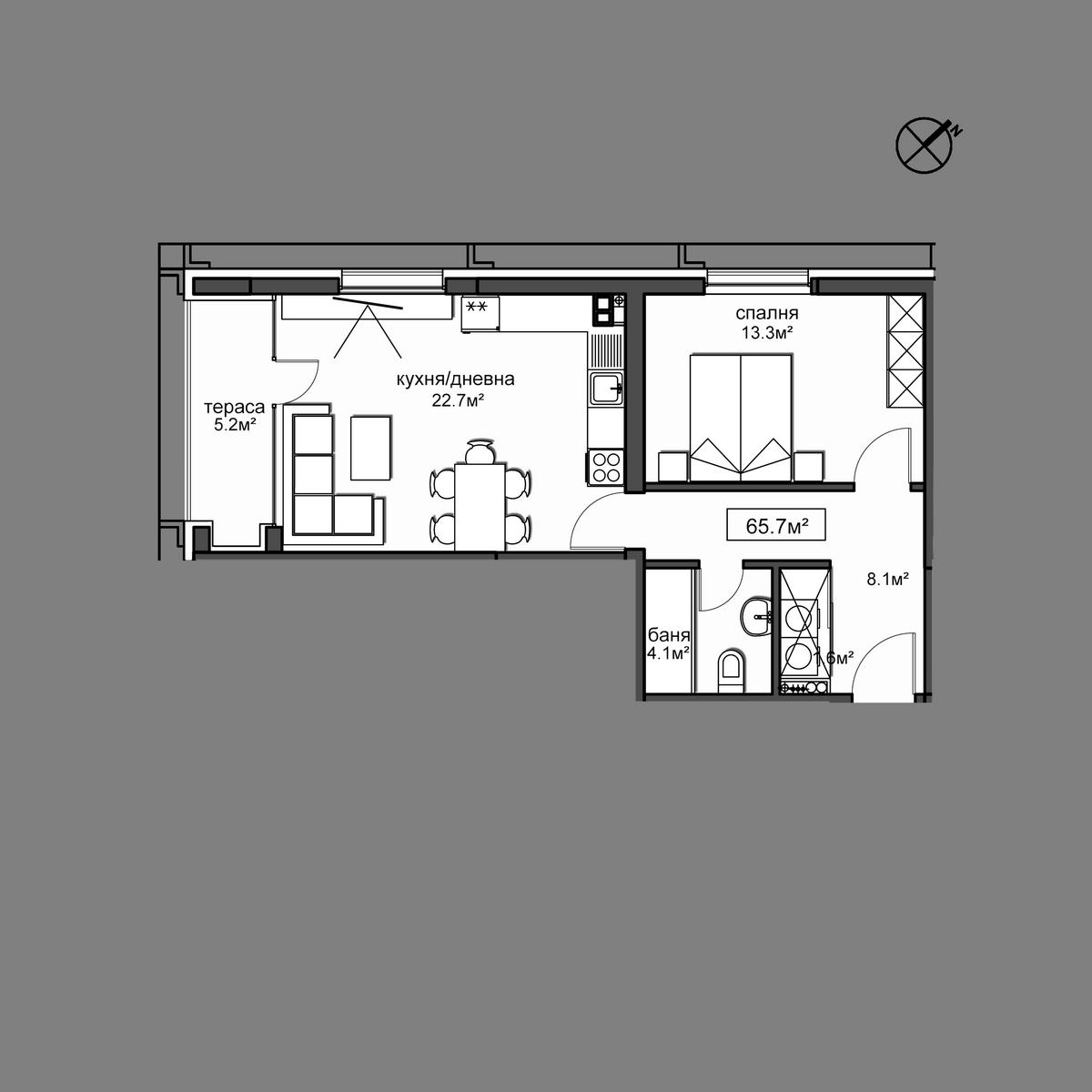Продава апартамент ново строителство - Апартамент 8