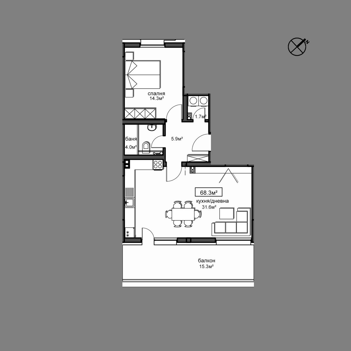 Продава апартамент - Апартамент Б22