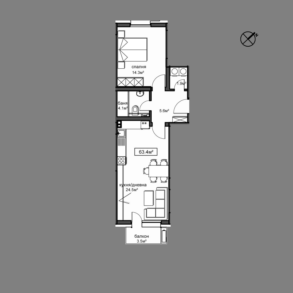 Продава апартамент ново строителство - Апартамент  Б10