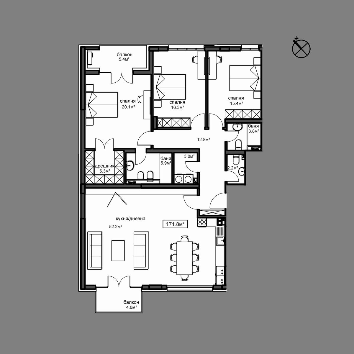 Продава апартамент ново строителство - Апартамент А9