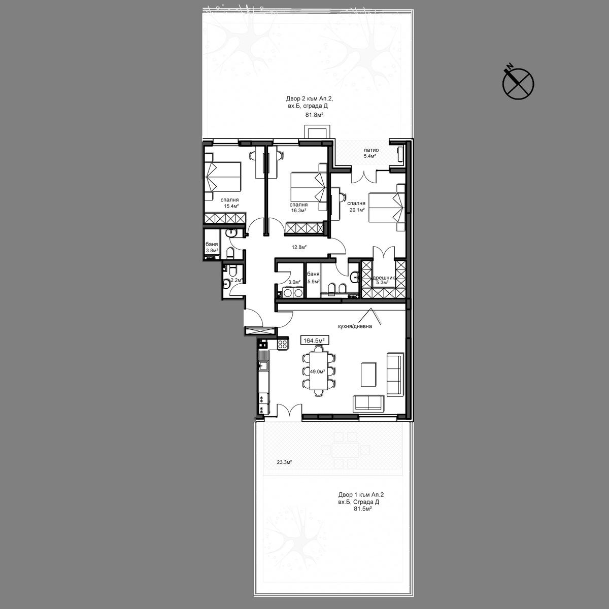 Продава апартамент ново строителство - Апартамент  Б2