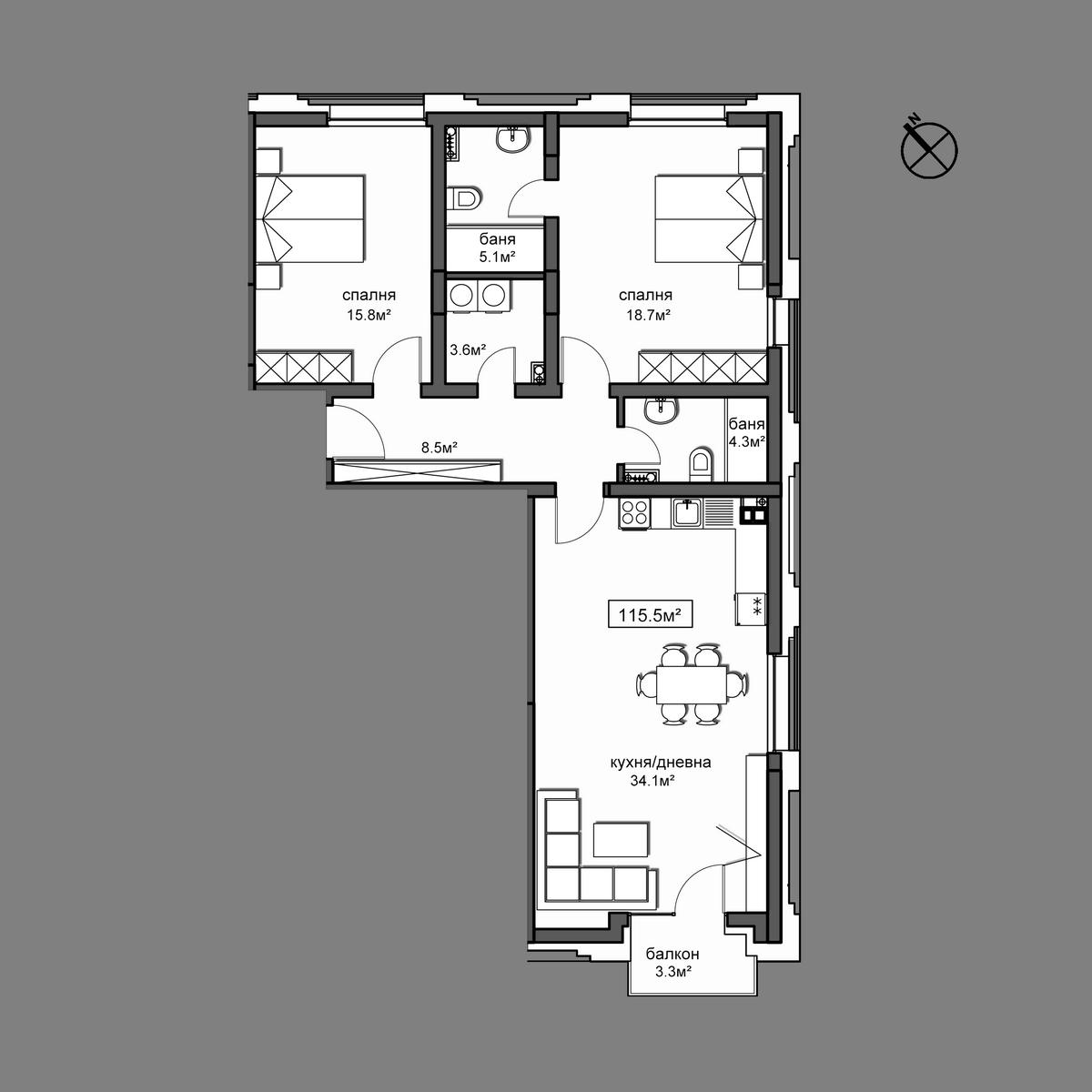 Продава апартамент ново строителство - Апартамент 16
