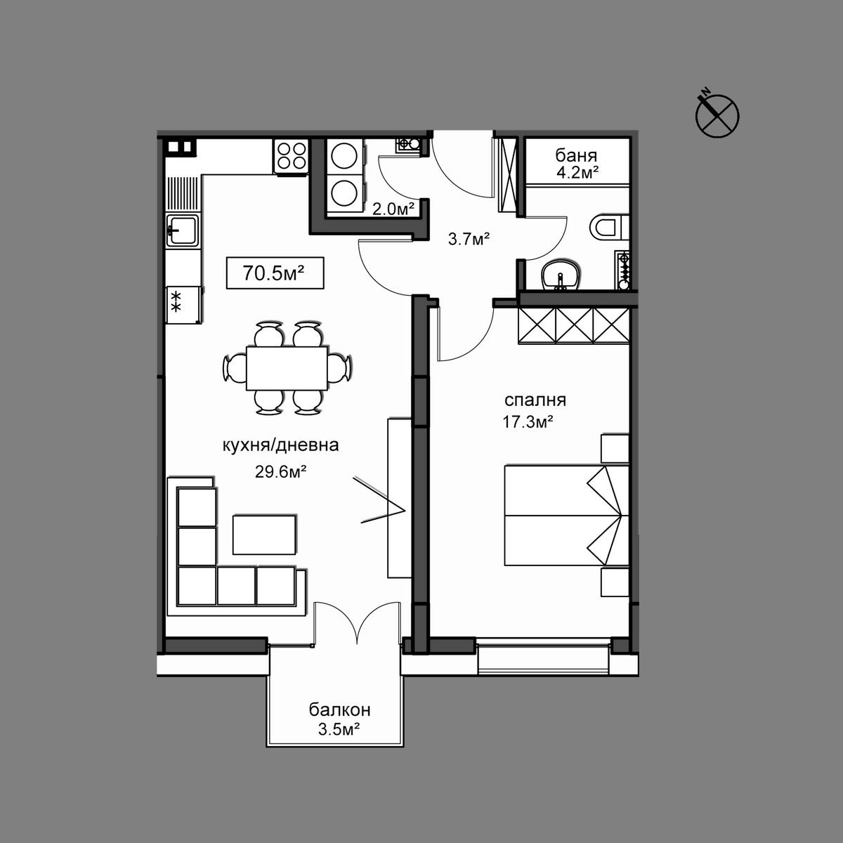 Продава апартамент ново строителство - Апартамент 6