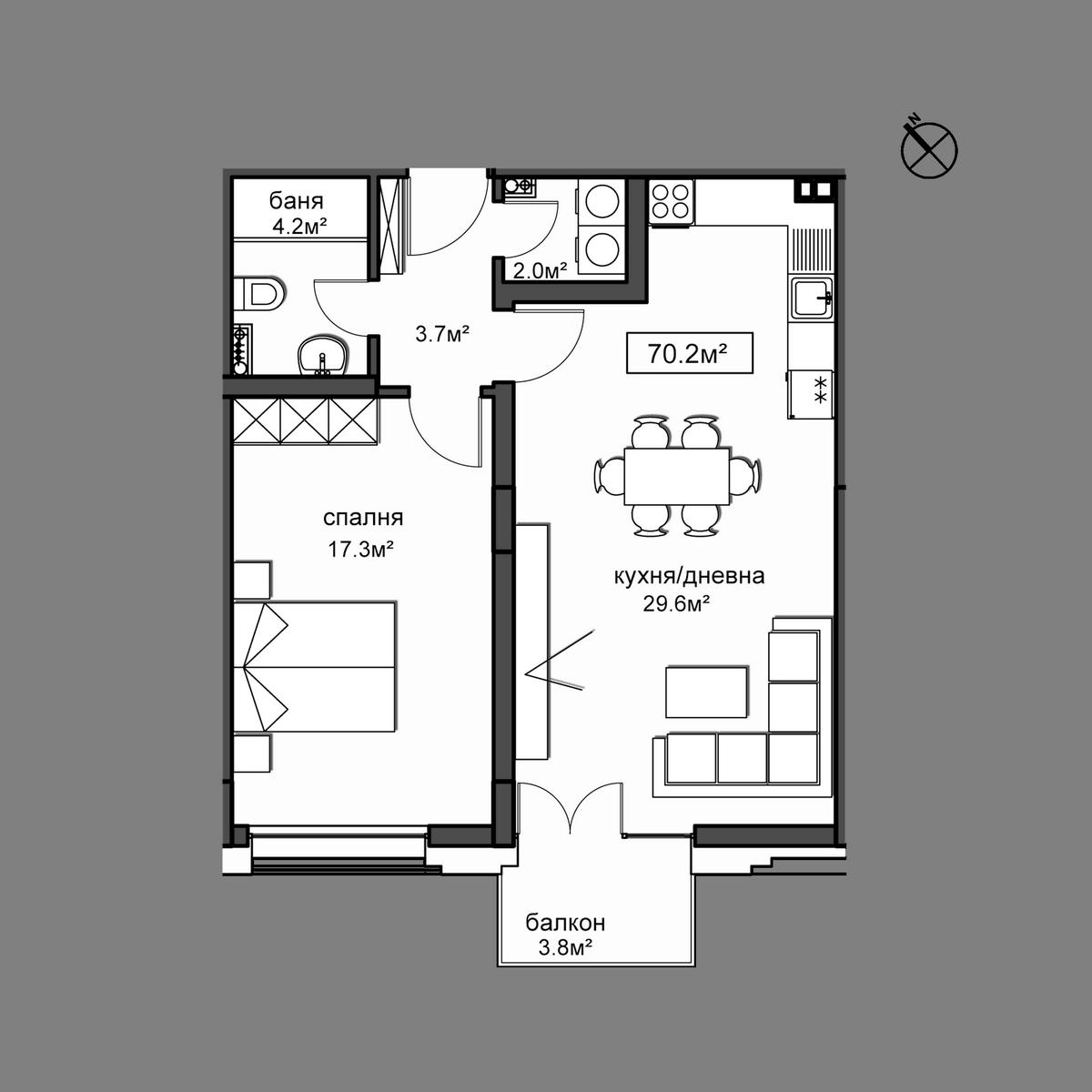 Продава апартамент ново строителство - Апартамент 31