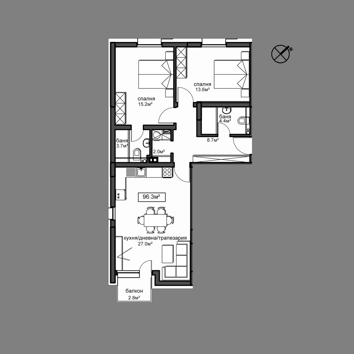 Продава апартамент ново строителство - Апартамент А4