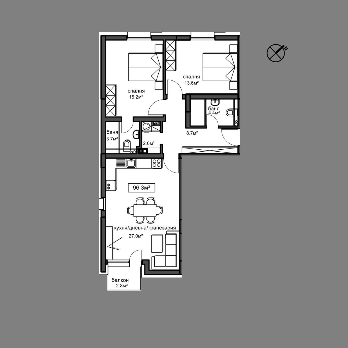Продава апартамент ново строителство - Апартамент А7