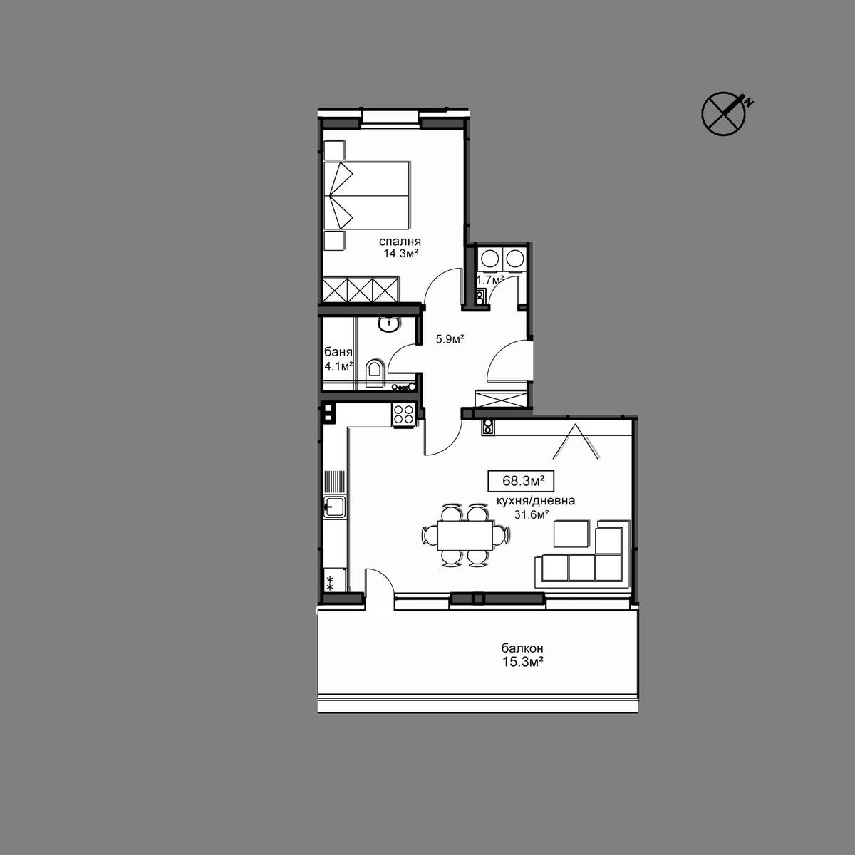 Апартамент  Б21