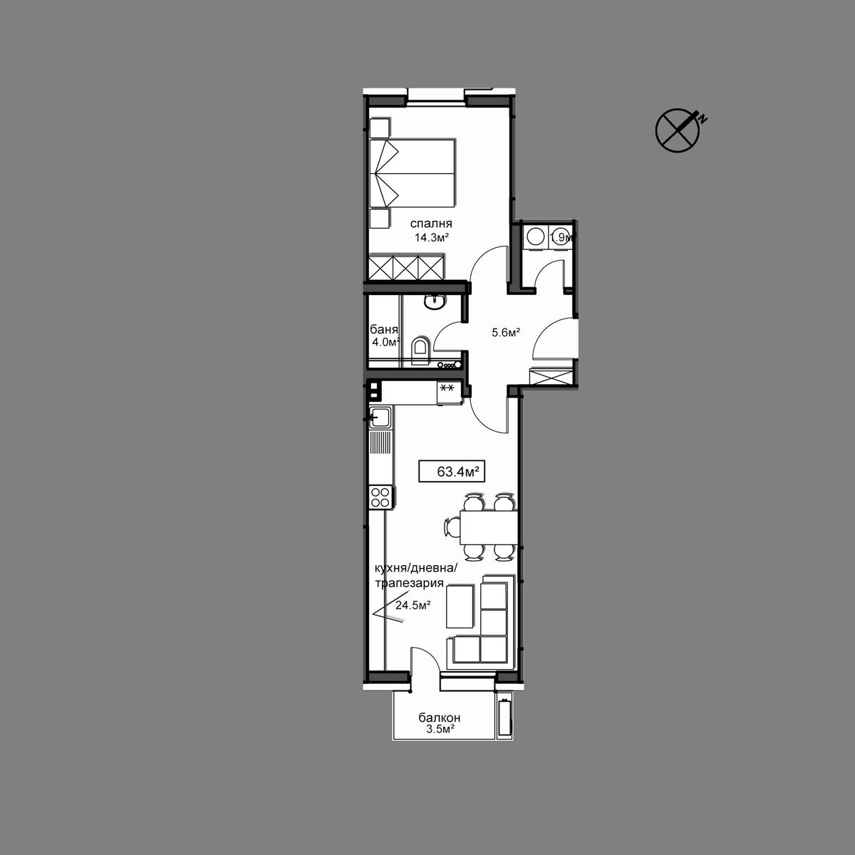 Апартамент Б3