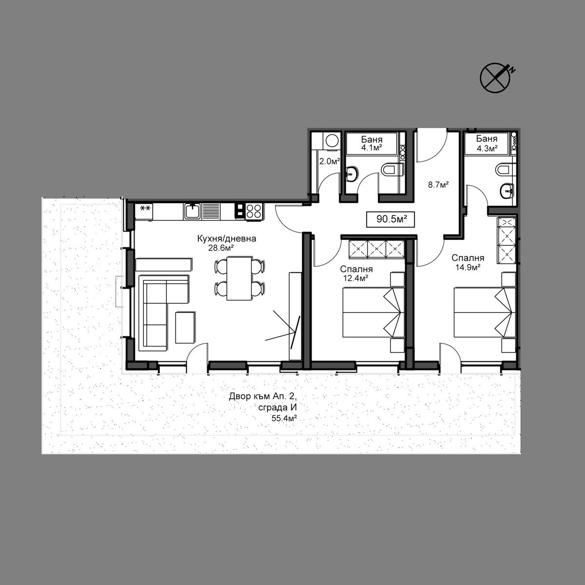 Продава апартамент ново строителство - Апартамент 2