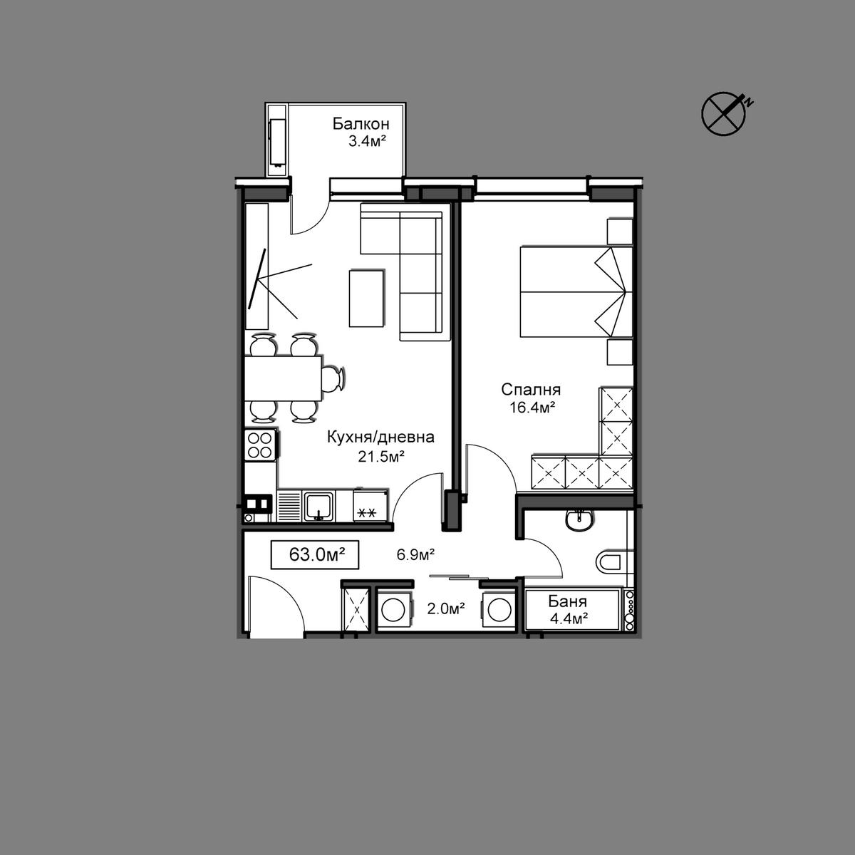 Продава апартамент - Апартамент 25