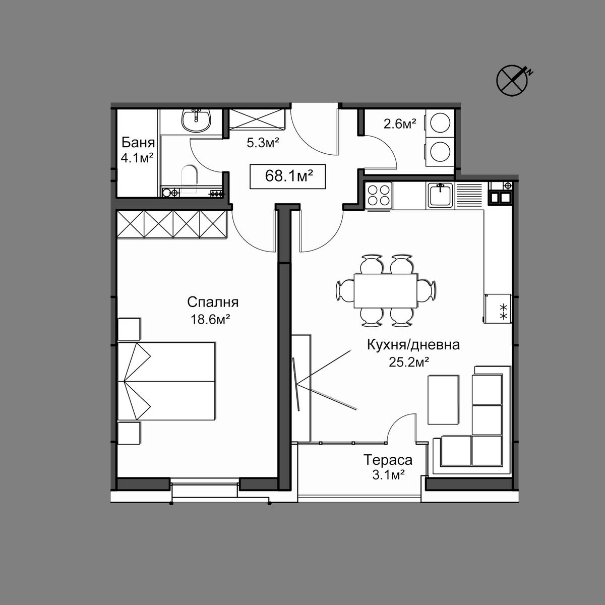 Продава апартамент ново строителство - Апартамент 14