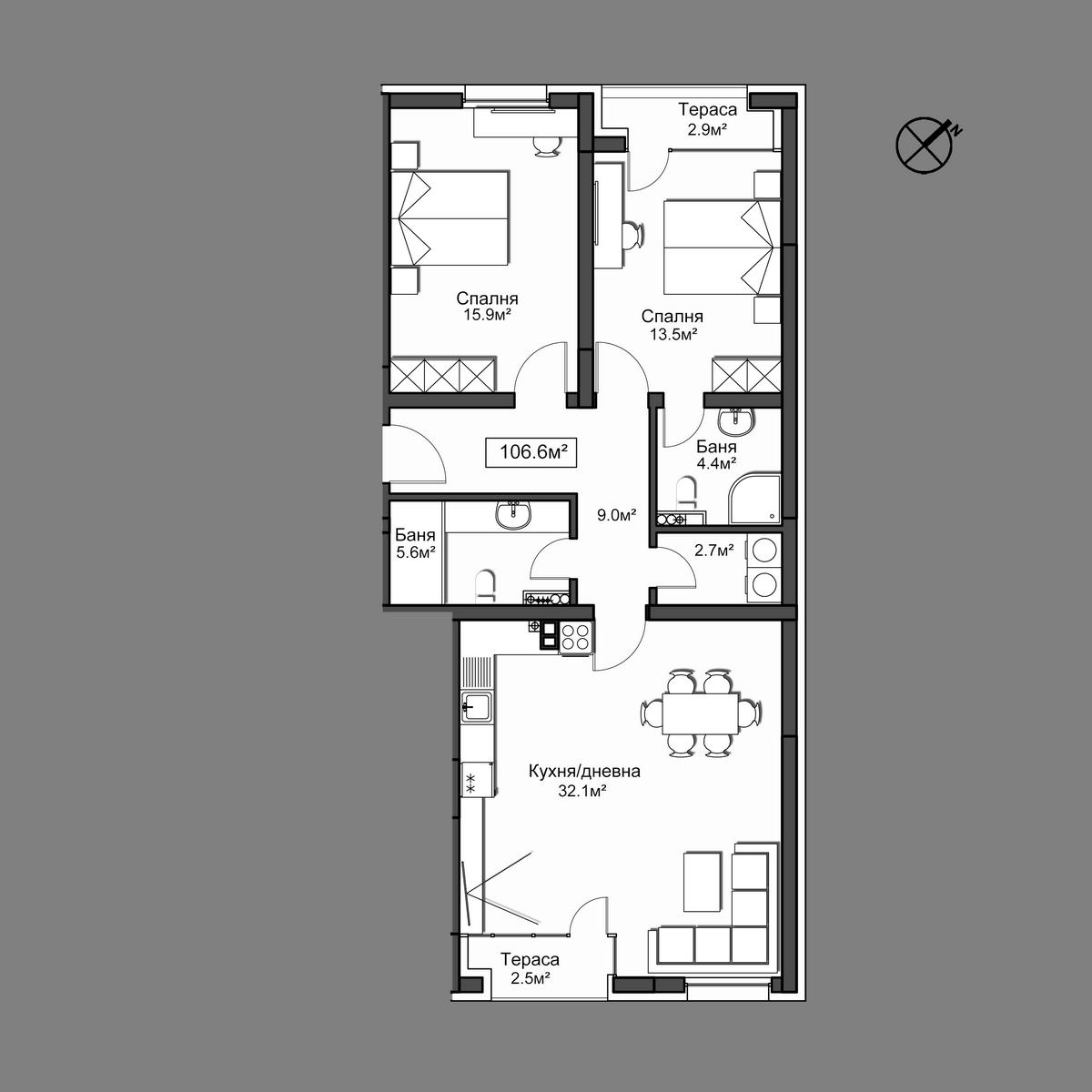 Продава апартамент ново строителство - Апартамент 18
