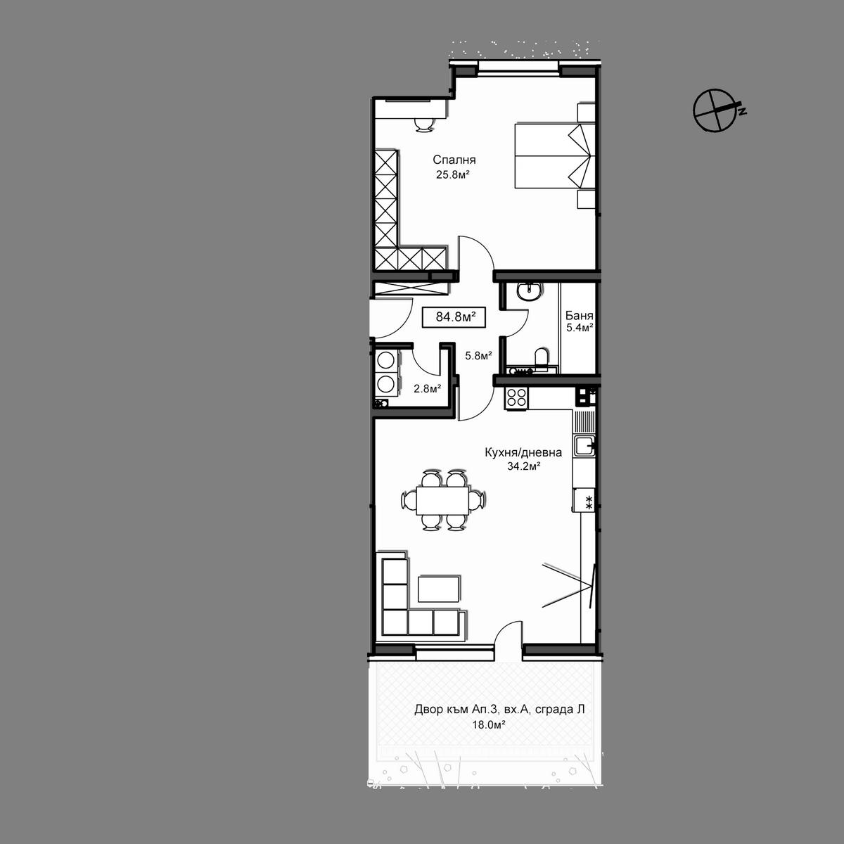 Продава апартамент ново строителство - Апартамент А3