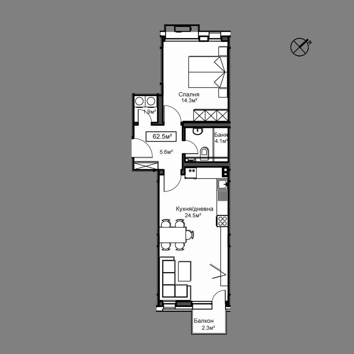 Продава апартамент - Апартамент А12
