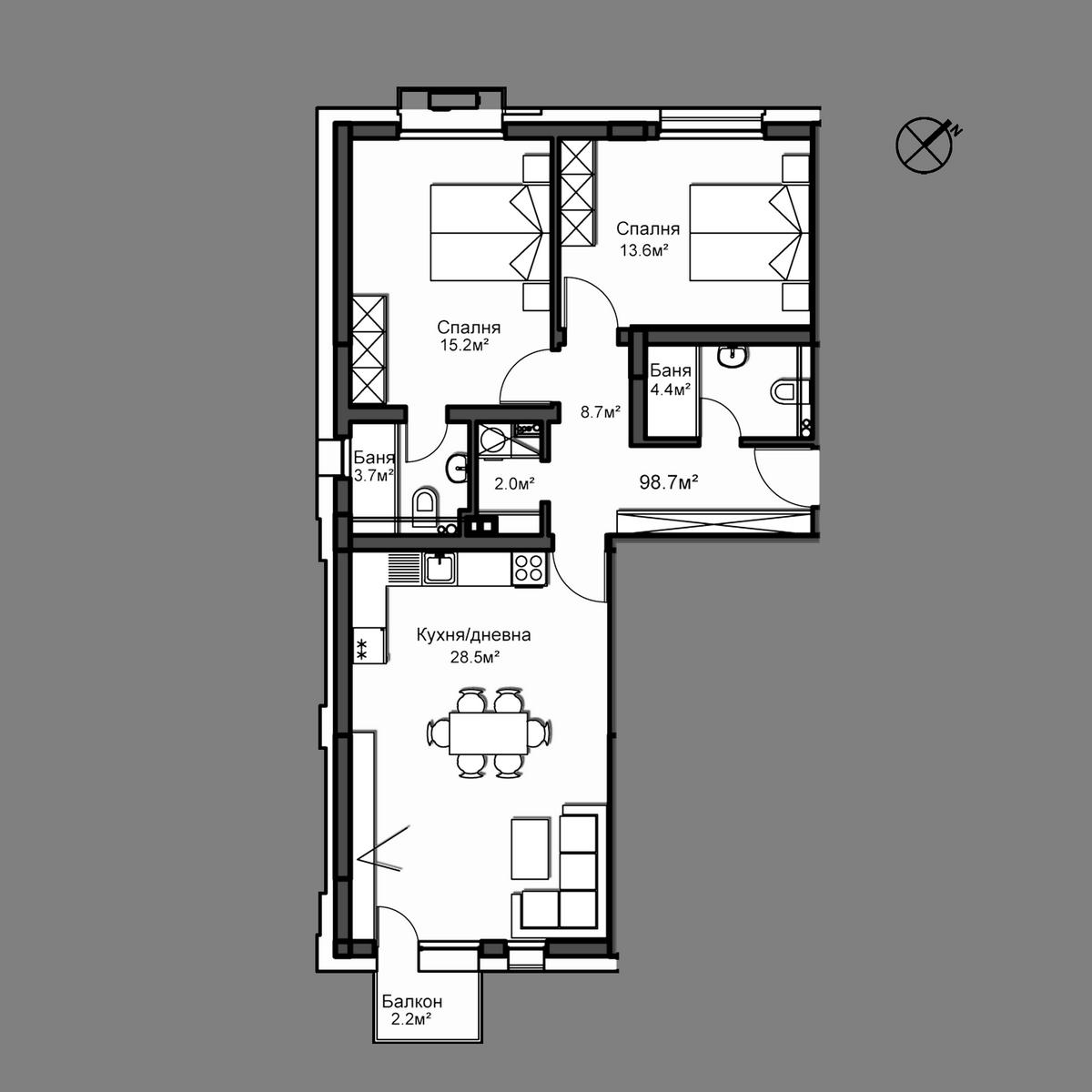 Апартамент А13
