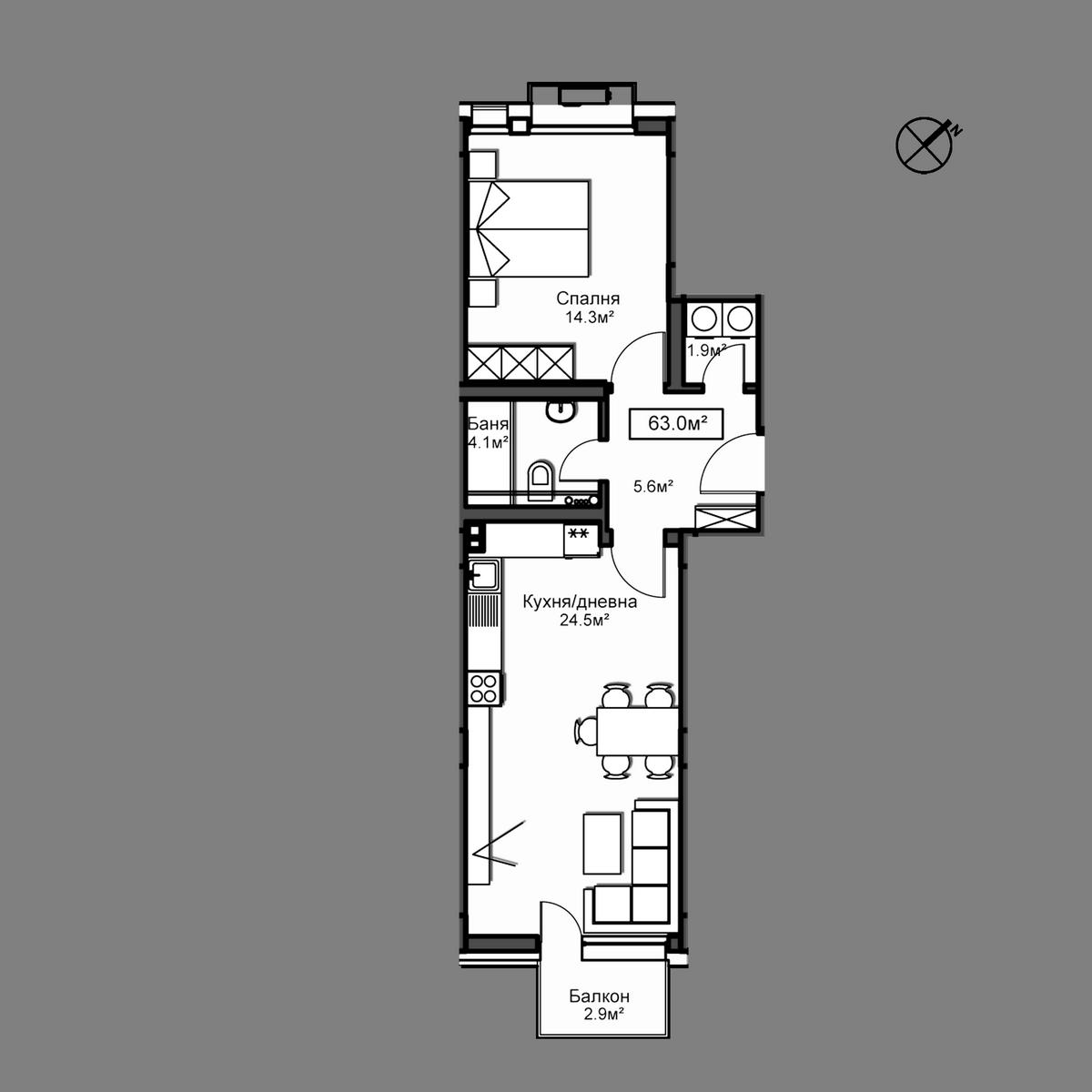 Апартамент Б10