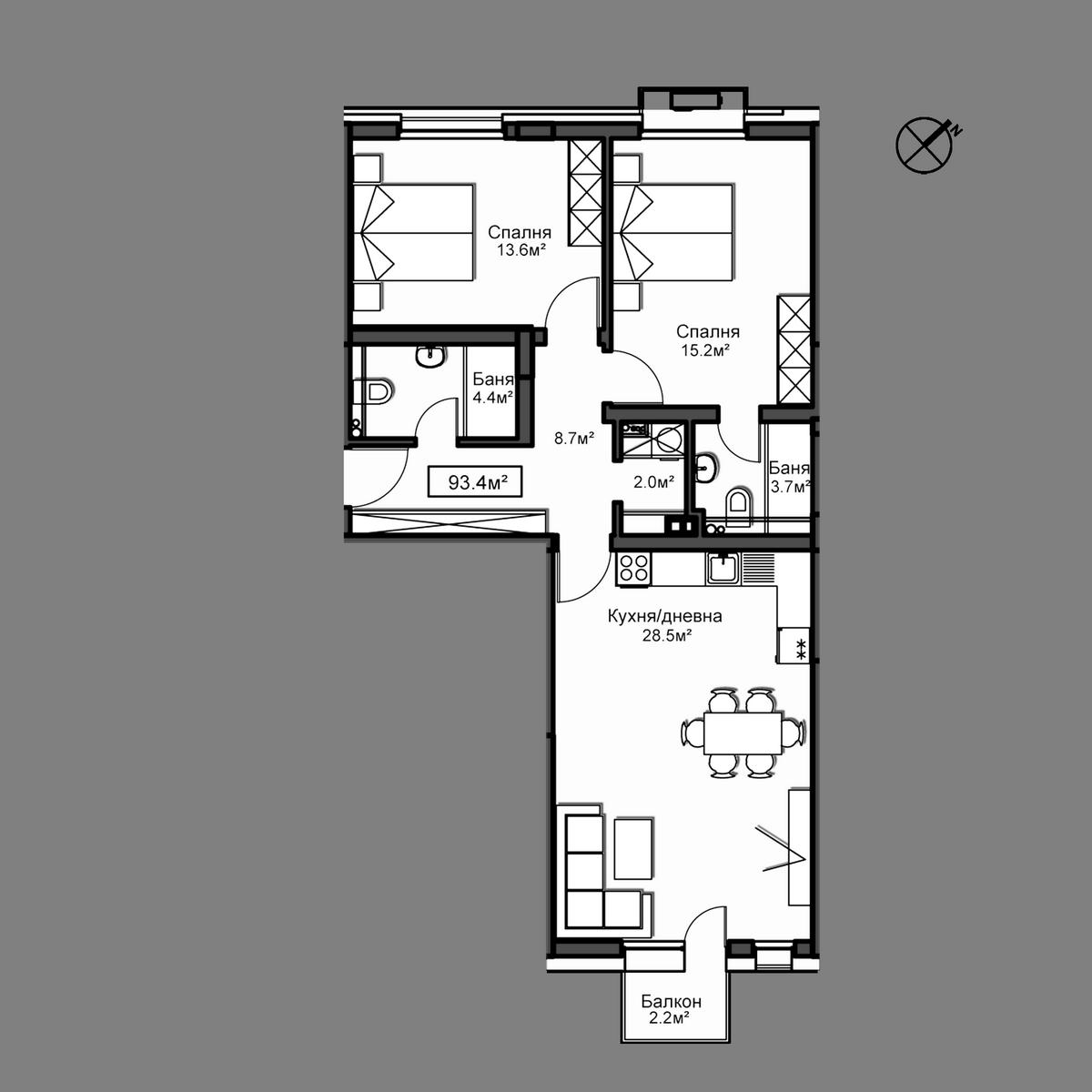 Апартамент Б15