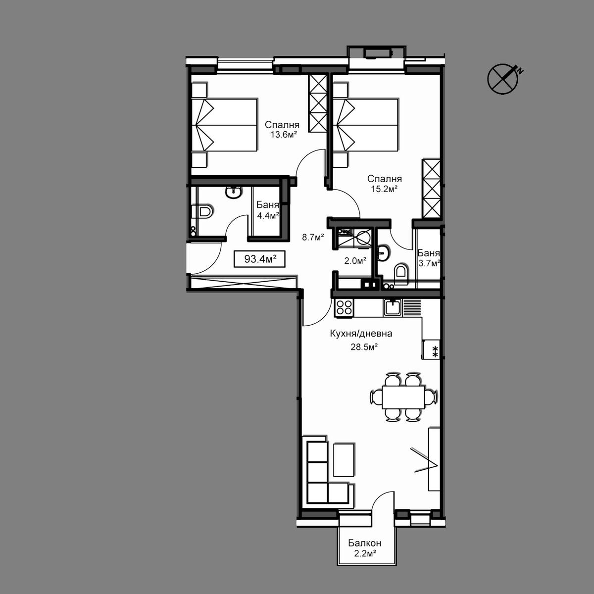 Продава апартамент ново строителство - Апартамент Б9