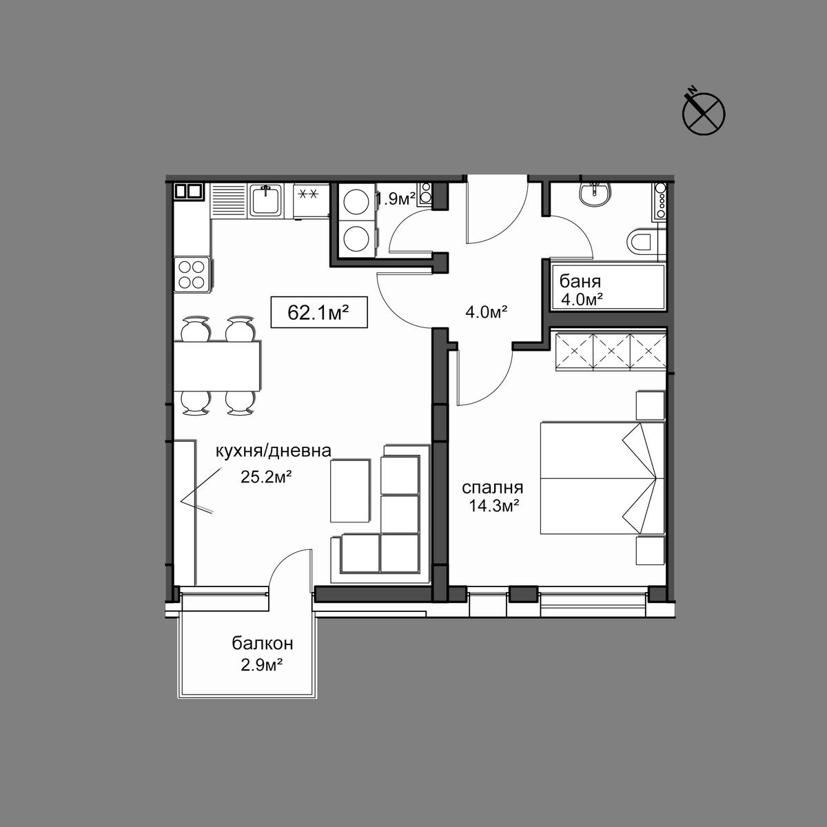 Продава апартамент ново строителство - Апартамент 11