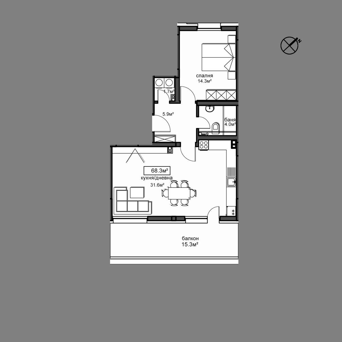Апартамент  А23