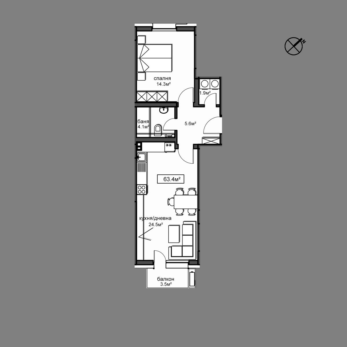 Продава апартамент - Апартамент  Б10