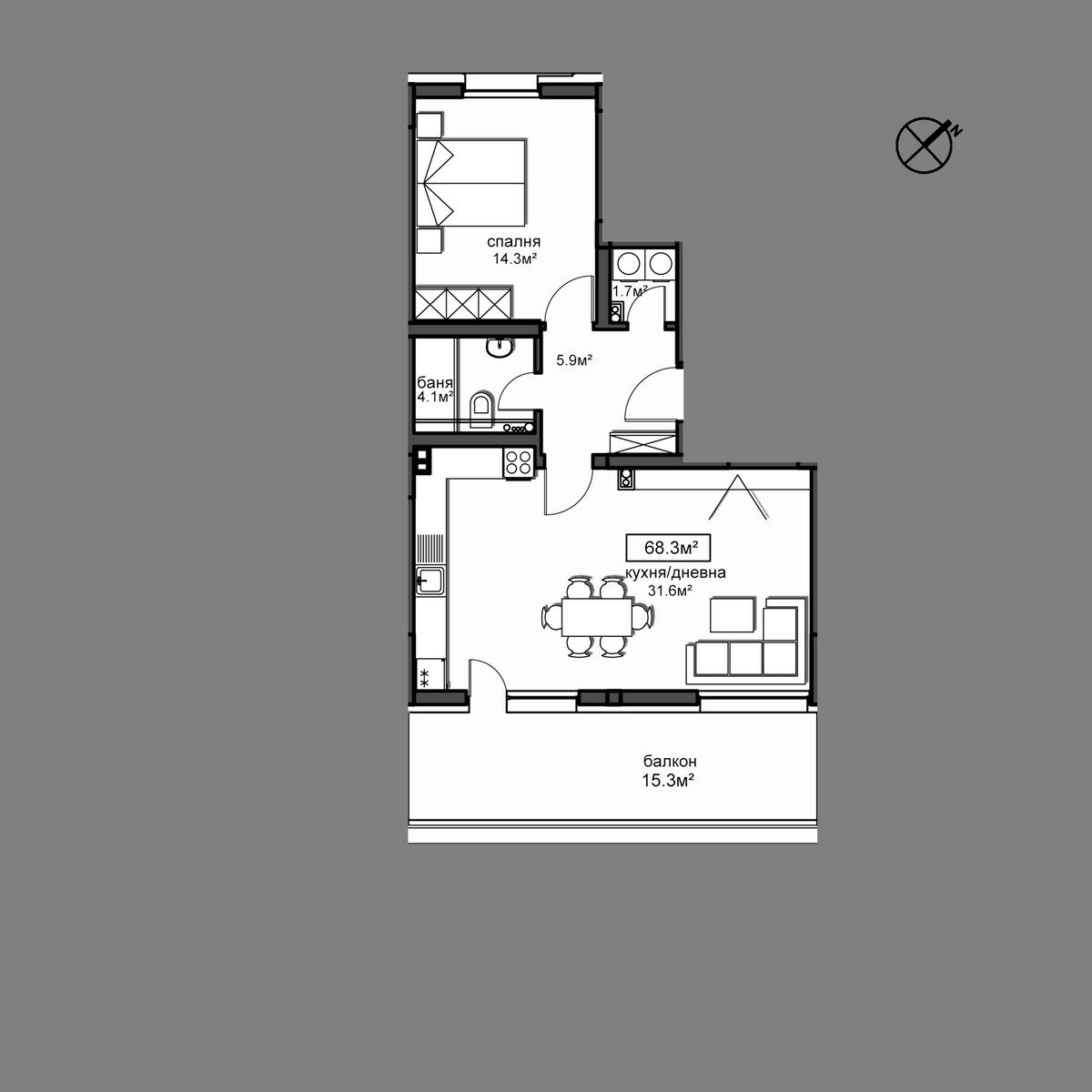 Апартамент  Б22