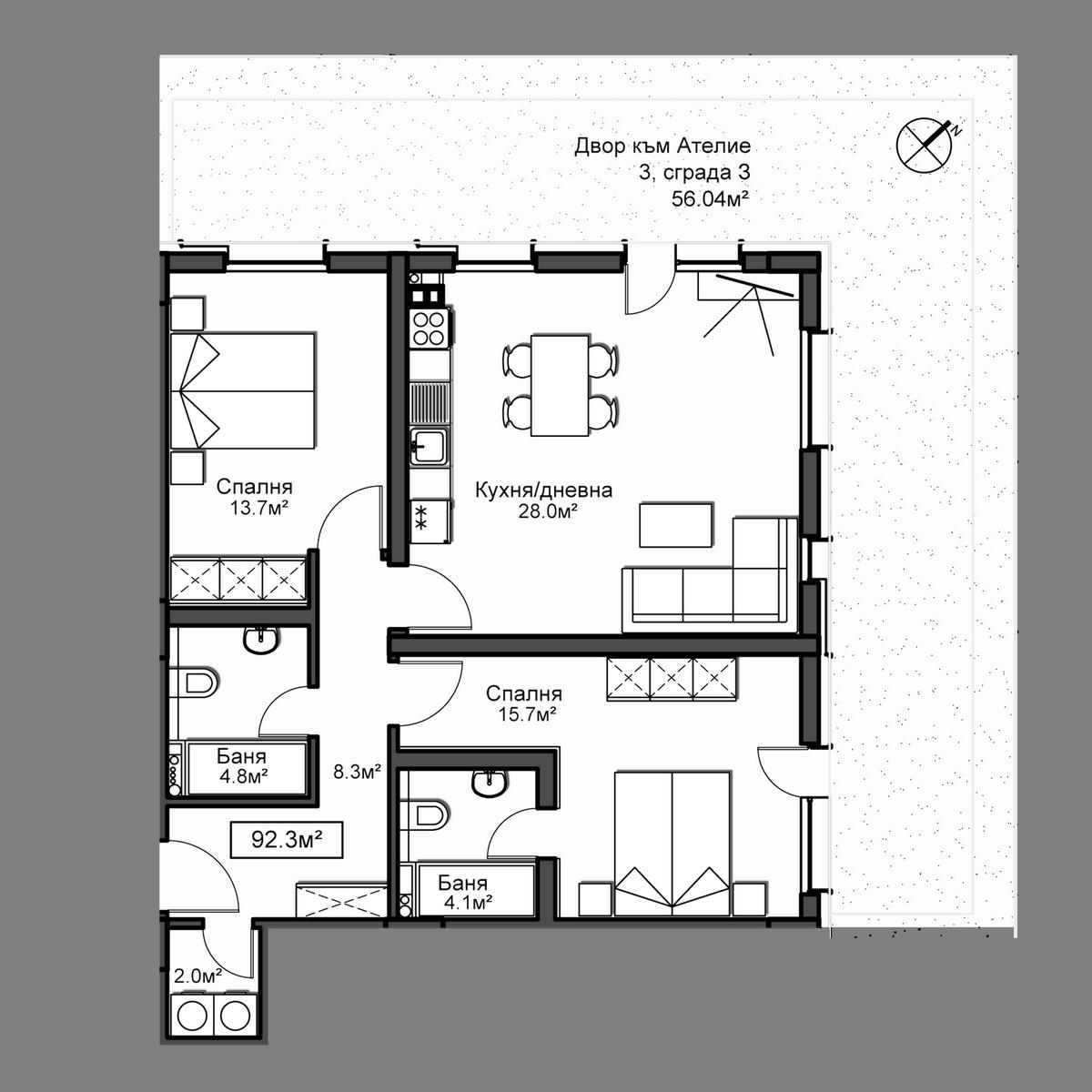 Продава апартамент ново строителство - Апартамент 3